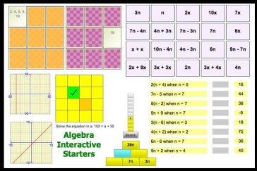 Interactive Algebra Starters