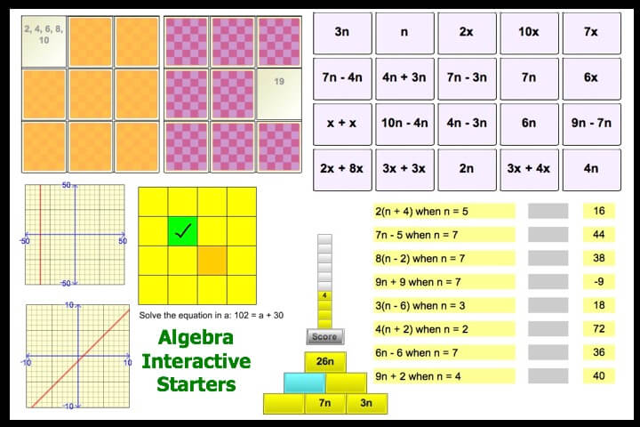 Interactive Algebra Starters 2