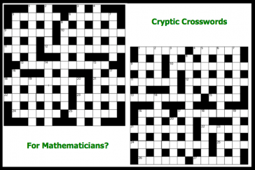 Cryptic crosswords for mathematicians?