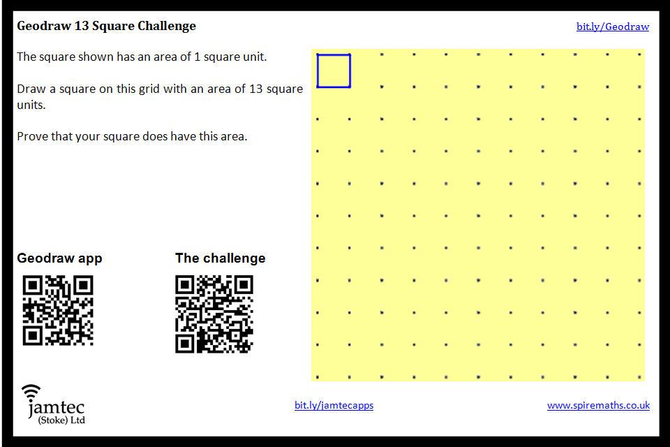 13 Square Challenge