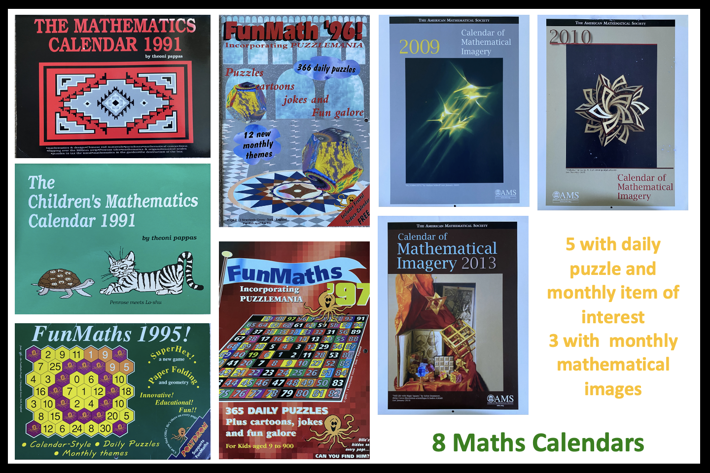Puzzle and Other Old Mathematics Calendars